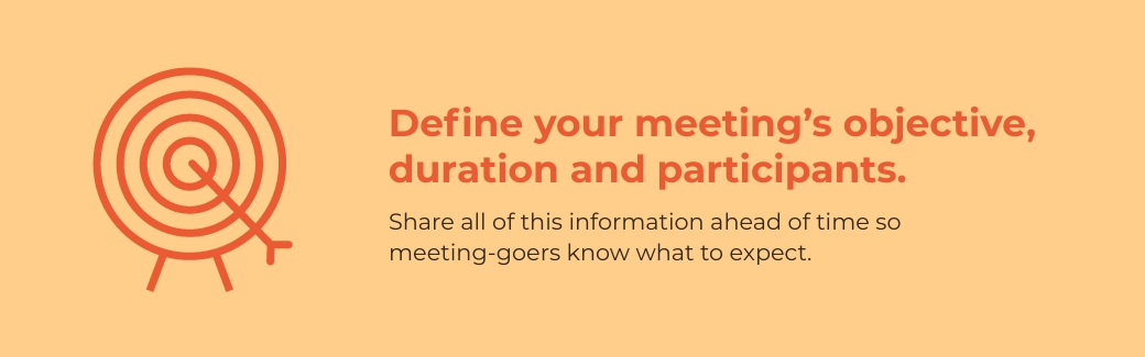 virtual meetings - define your meeting's objective