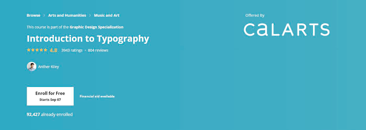 graphic design courses - typography course