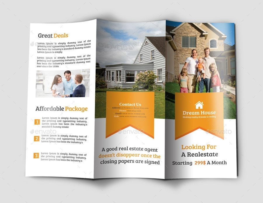 brochure ideas - use photos and illustrated icons