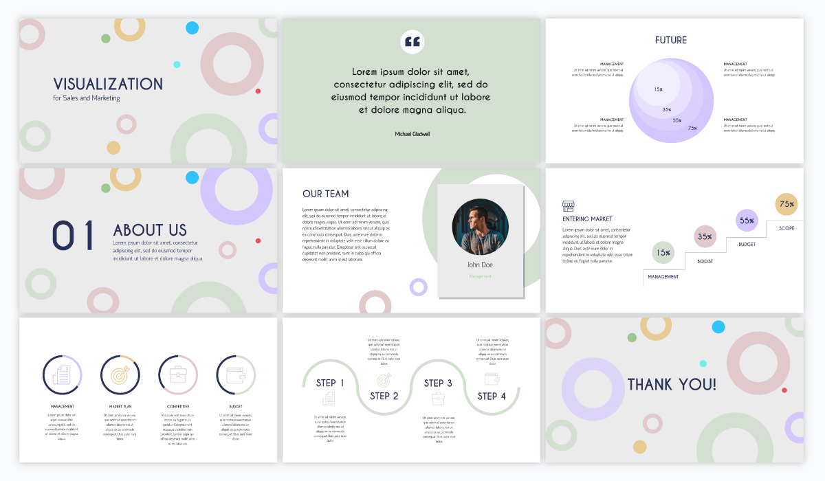virtual presentation - visualization presentation template