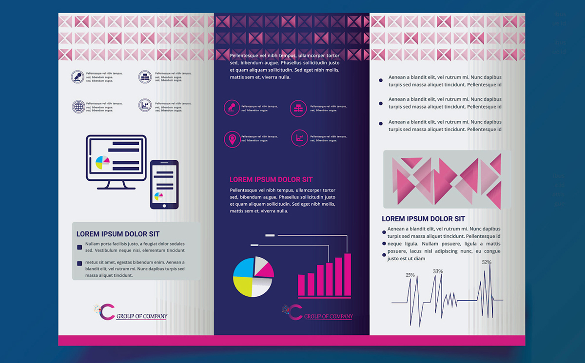 brochure ideas - use statistics as visual elements