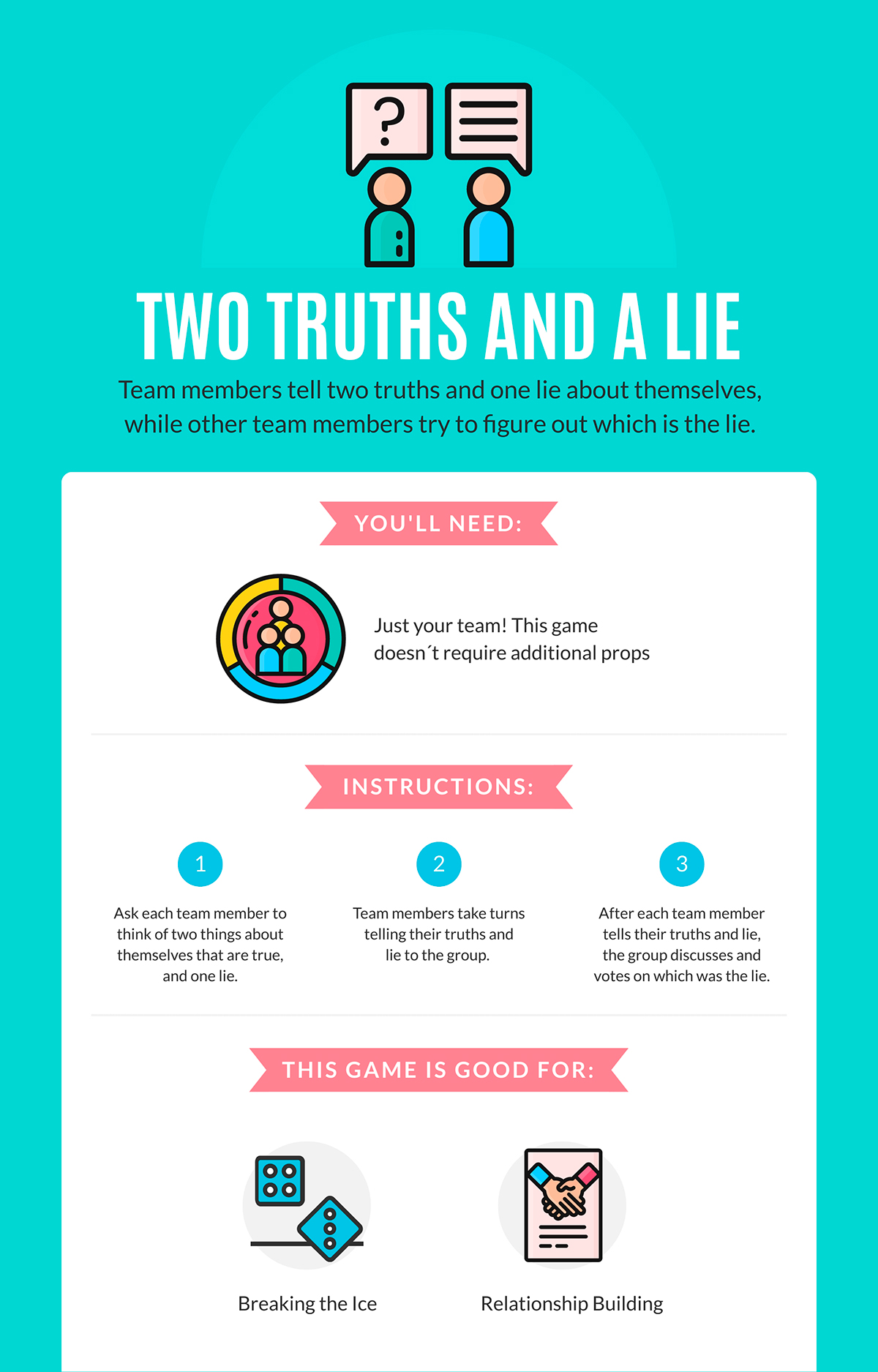 virtual team building activities - two truths and a lie