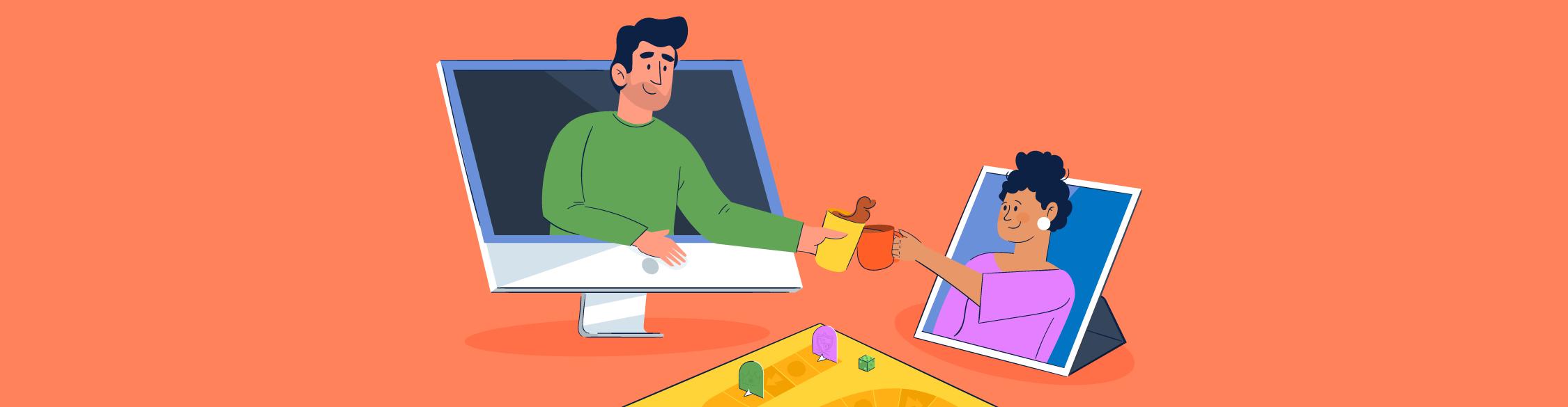 virtual team building activities - header