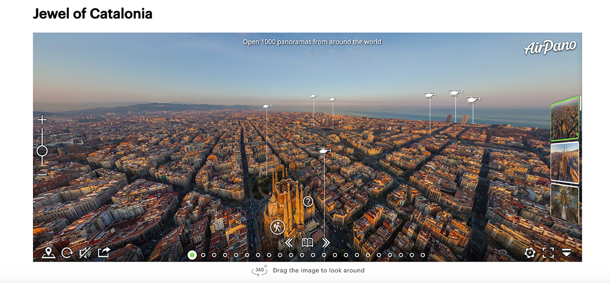 interactive blog post - virtual tour spain