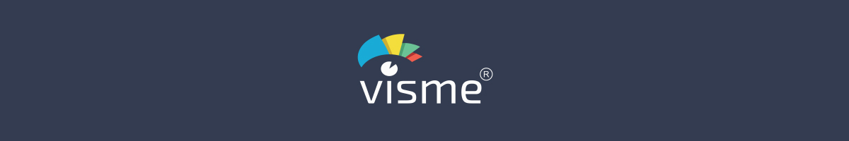 Visme logo against a dark background