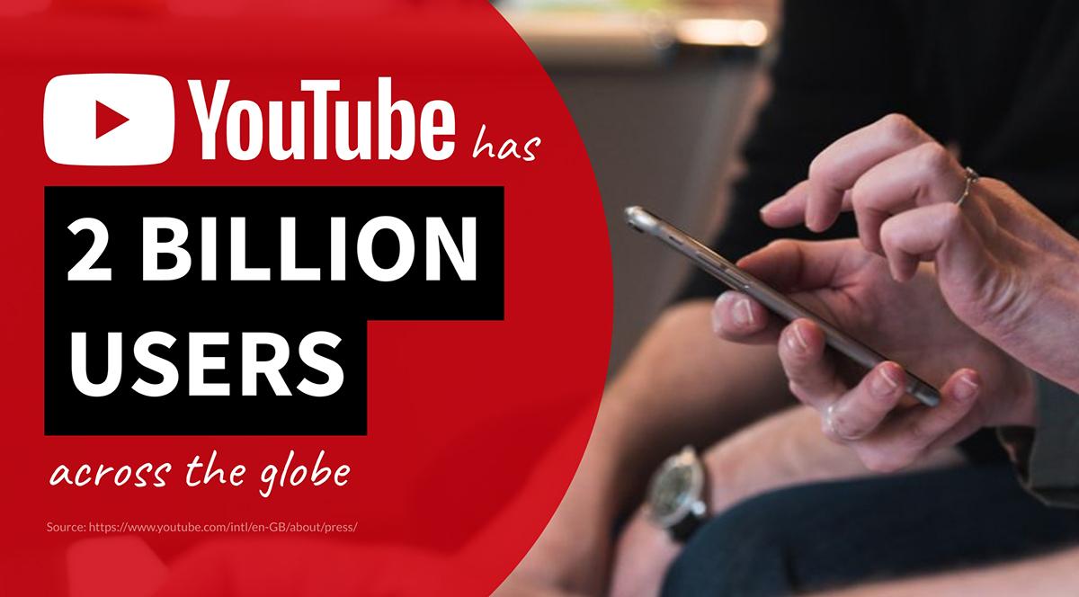 video marketing statistics - youtube has 2 billion users across the globe