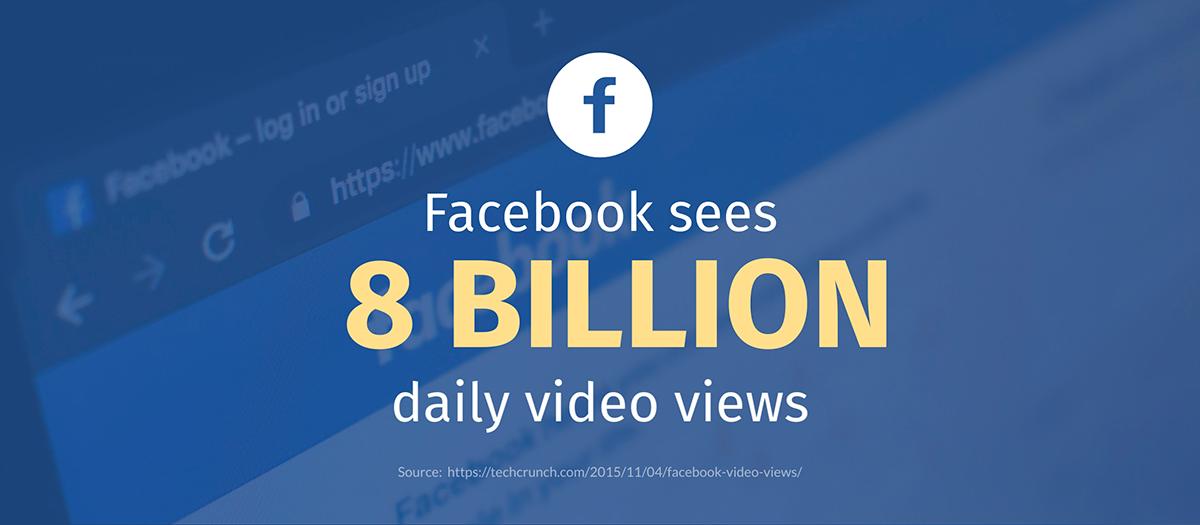 video marketing statistics - facebook gets 8 billion daily video views