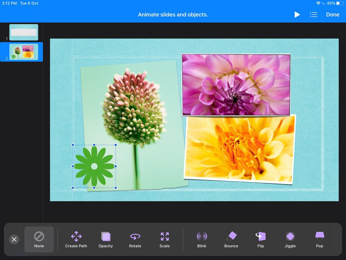 best presentation software - keynote animation