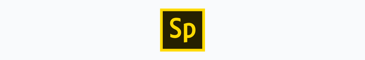 adobe spark logo against a white background