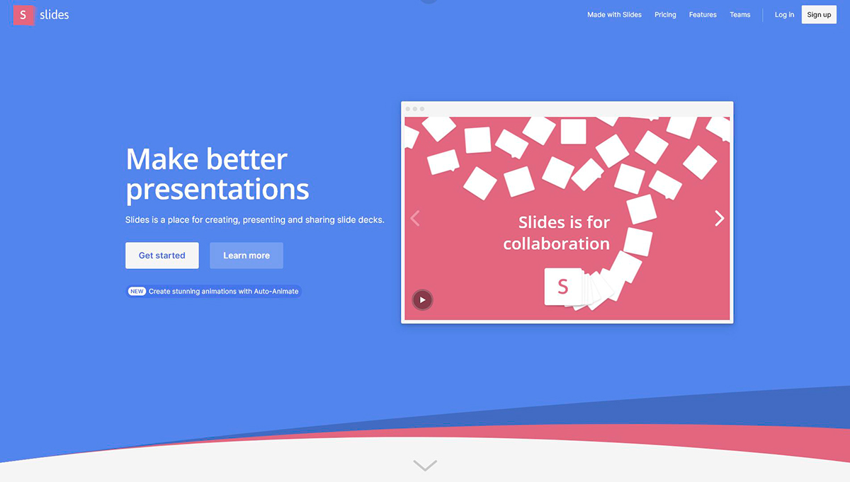 best presentation software - slides homepage