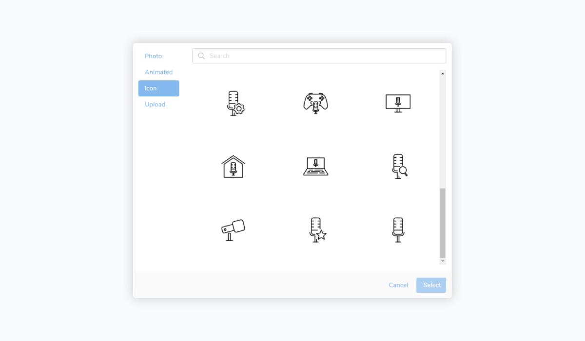 best presentation software - slidebean icons