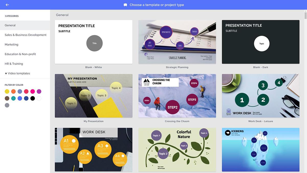 best presentation software - prezi templates