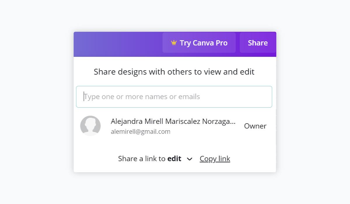 best presentation software - canva collaboration