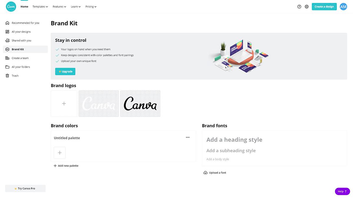 best presentation software - canva brand kit