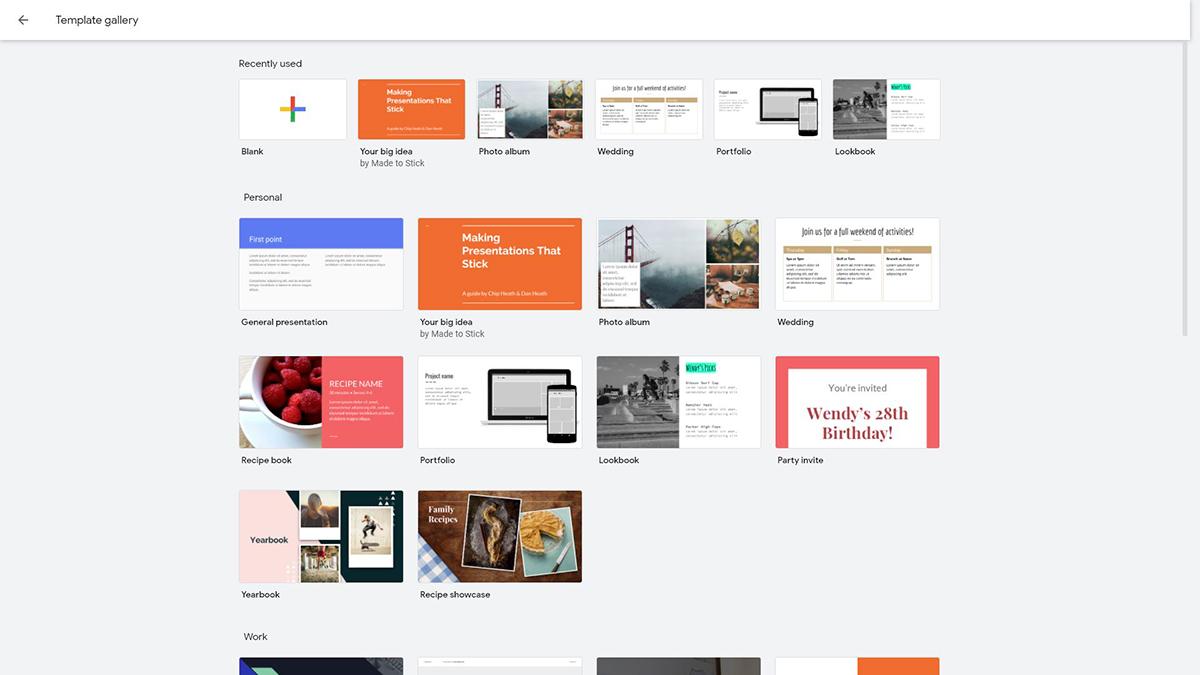 best presentation software - google slides templates