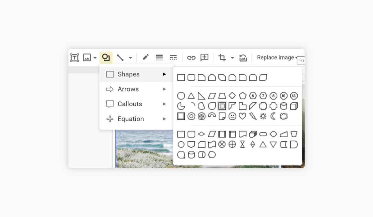 best presentation software - google slides shapes