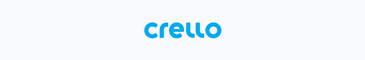 Crello logo against a light background