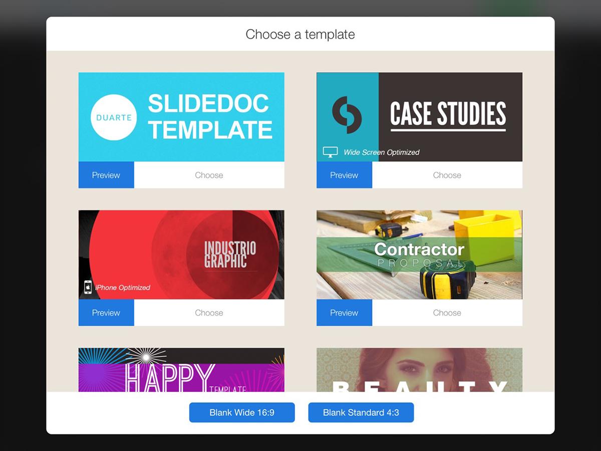 best presentation software - flowvella templates