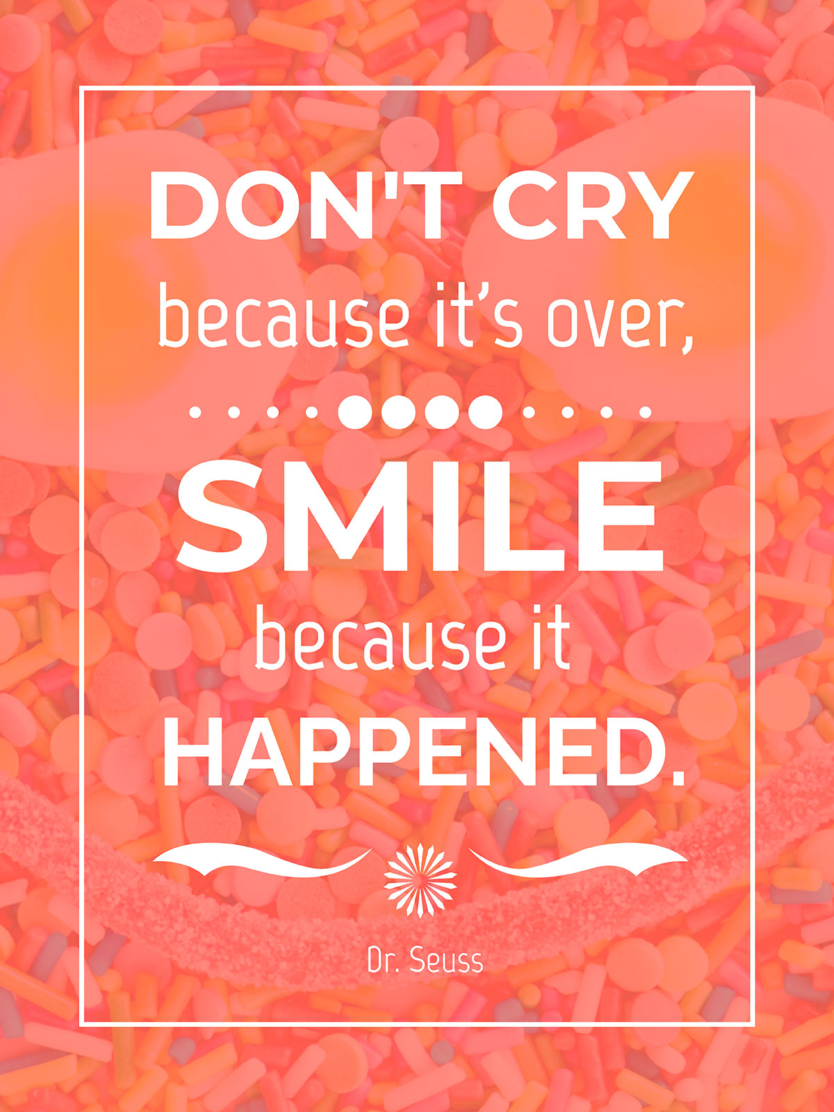 An example of a pink orange quote poster template from Visme.