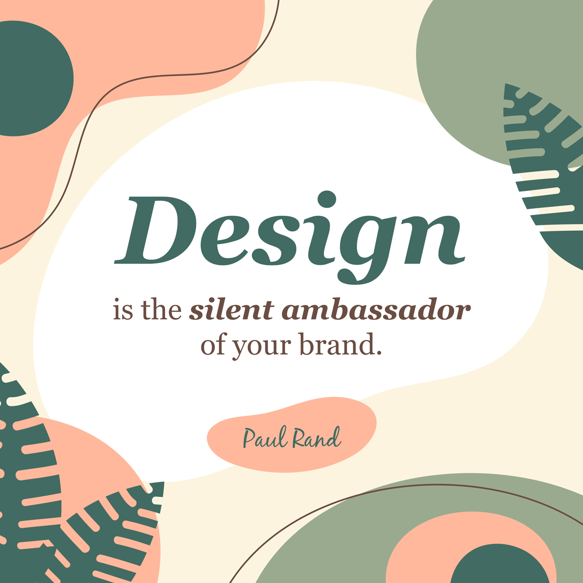 A quote about branding by Paul Rand.