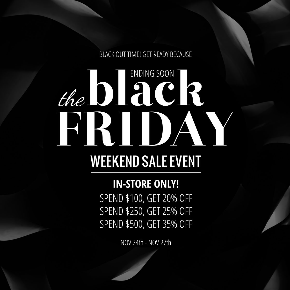A Black Friday weekend sale social media template available in Visme.