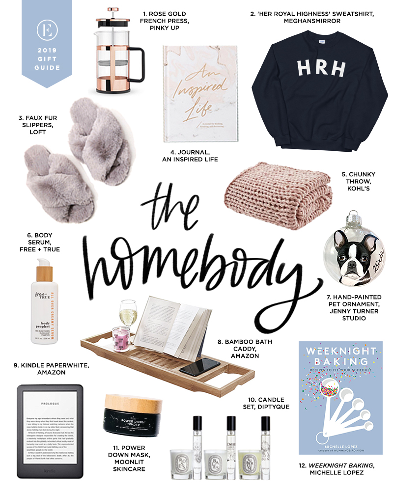 "A gift guide for ""The Homebody"" from The Everygirl."