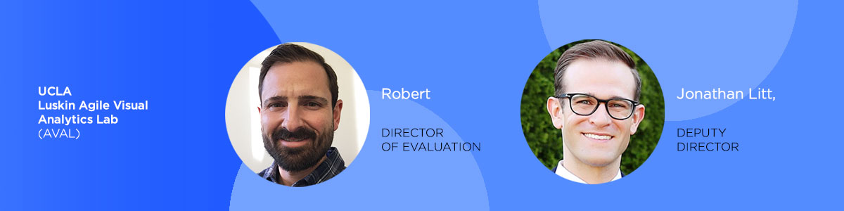 Biocard for case study interviewees from UCLA Luskin's AVAL team, Robert and Jonathan.