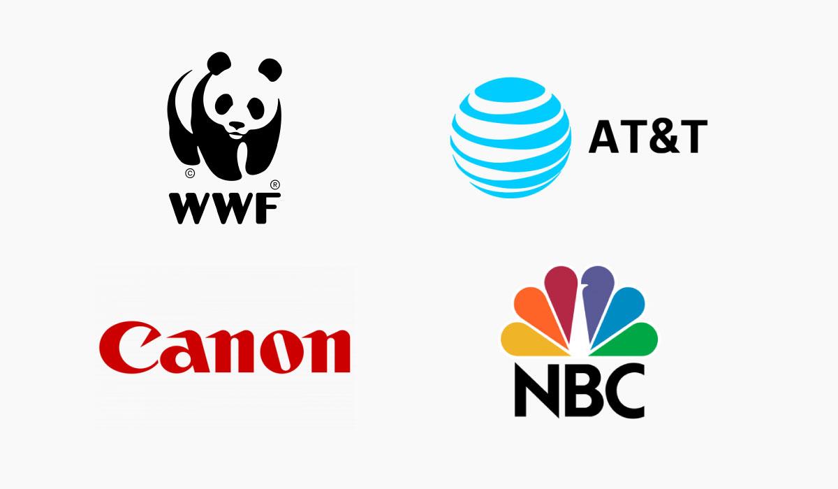 WWF, AT&T, Canon and NBC logos.