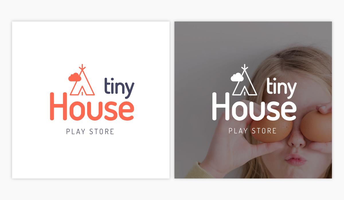A play store logo template available in Visme.
