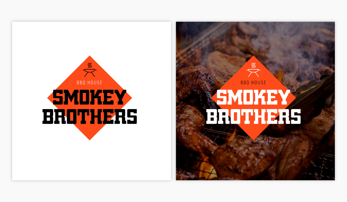 A BBQ joint logo template available in Visme.