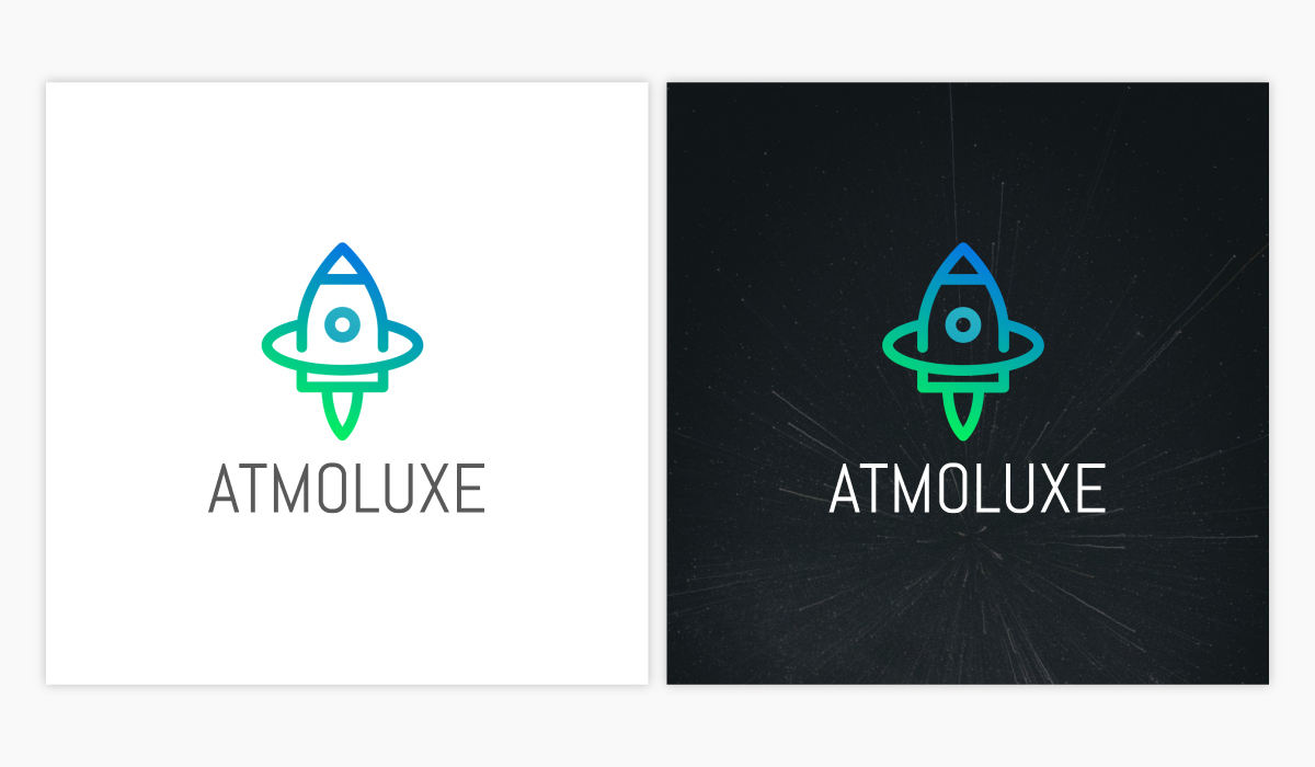 A startup logo template available to customize in Visme.