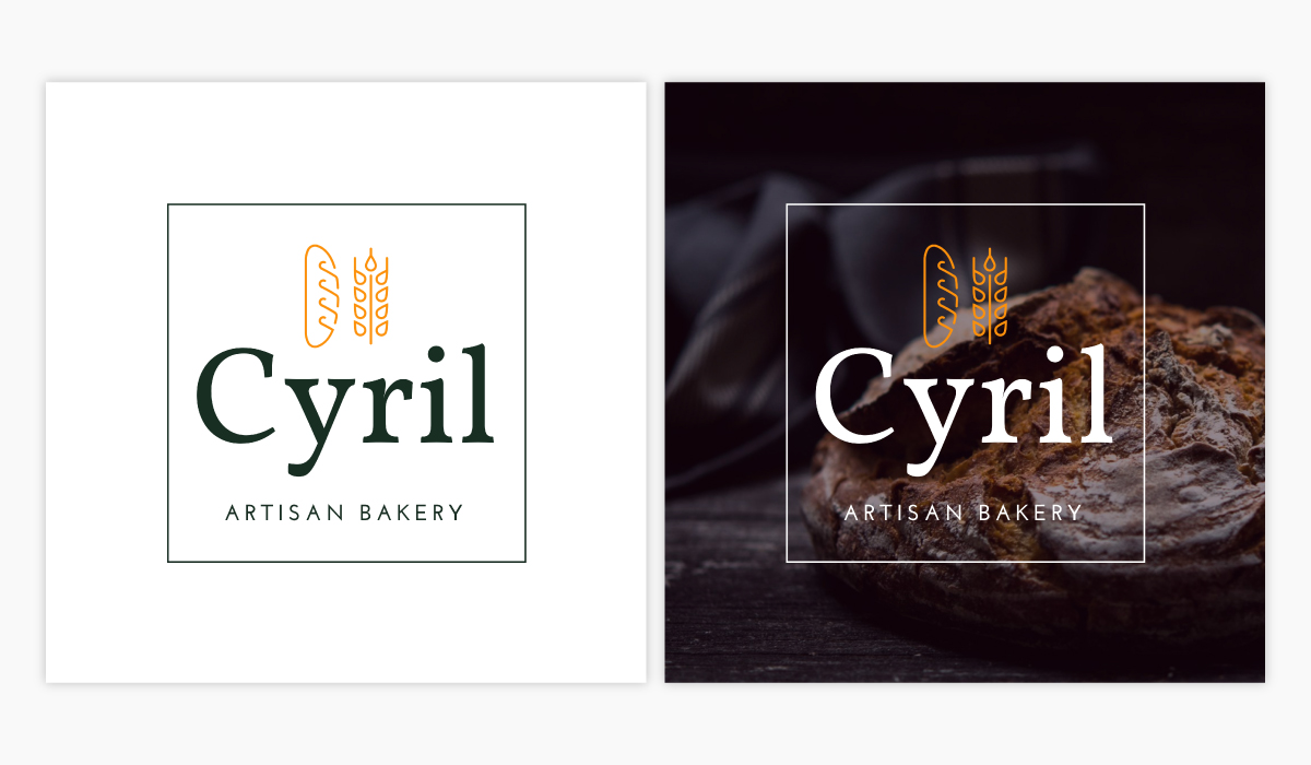 A bakery logo template available in Visme.