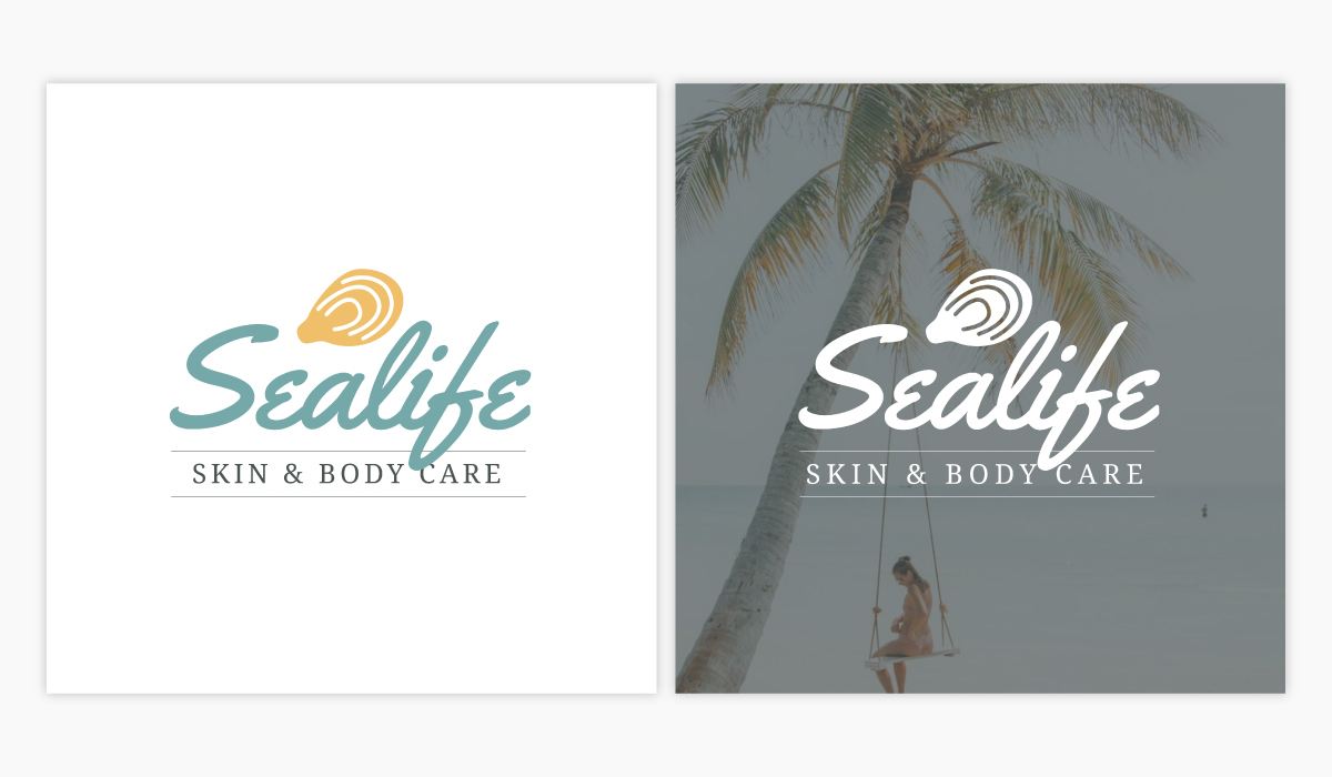 A skin and body care logo template available in Visme.