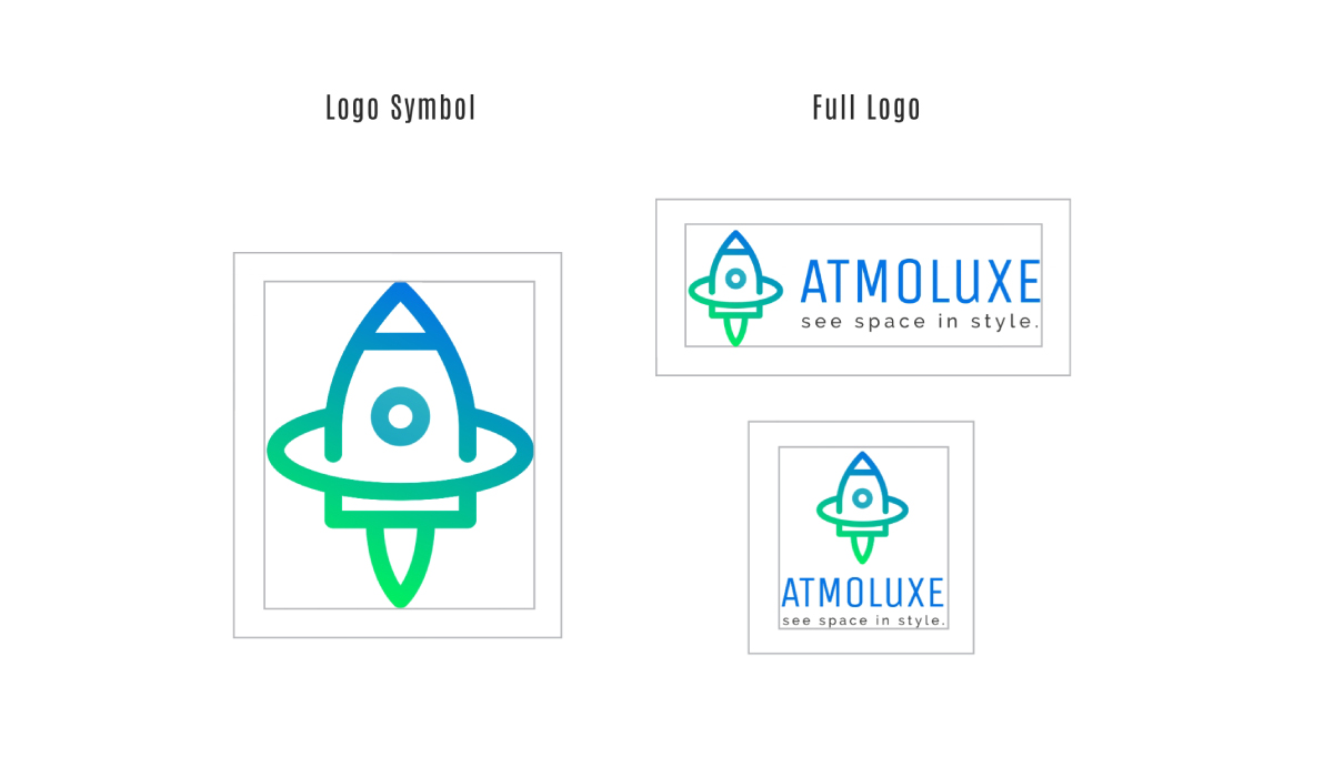 An example of your logo section in your brand guidelines.
