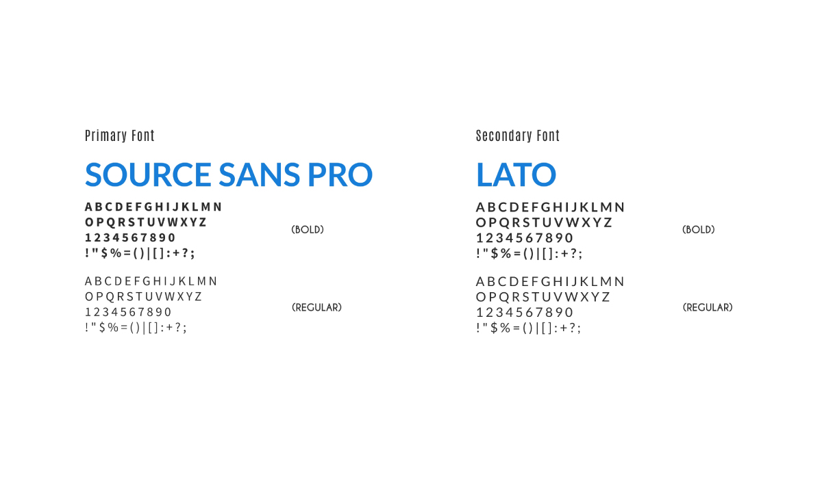 An example of the typography/font section of your brand guidelines.