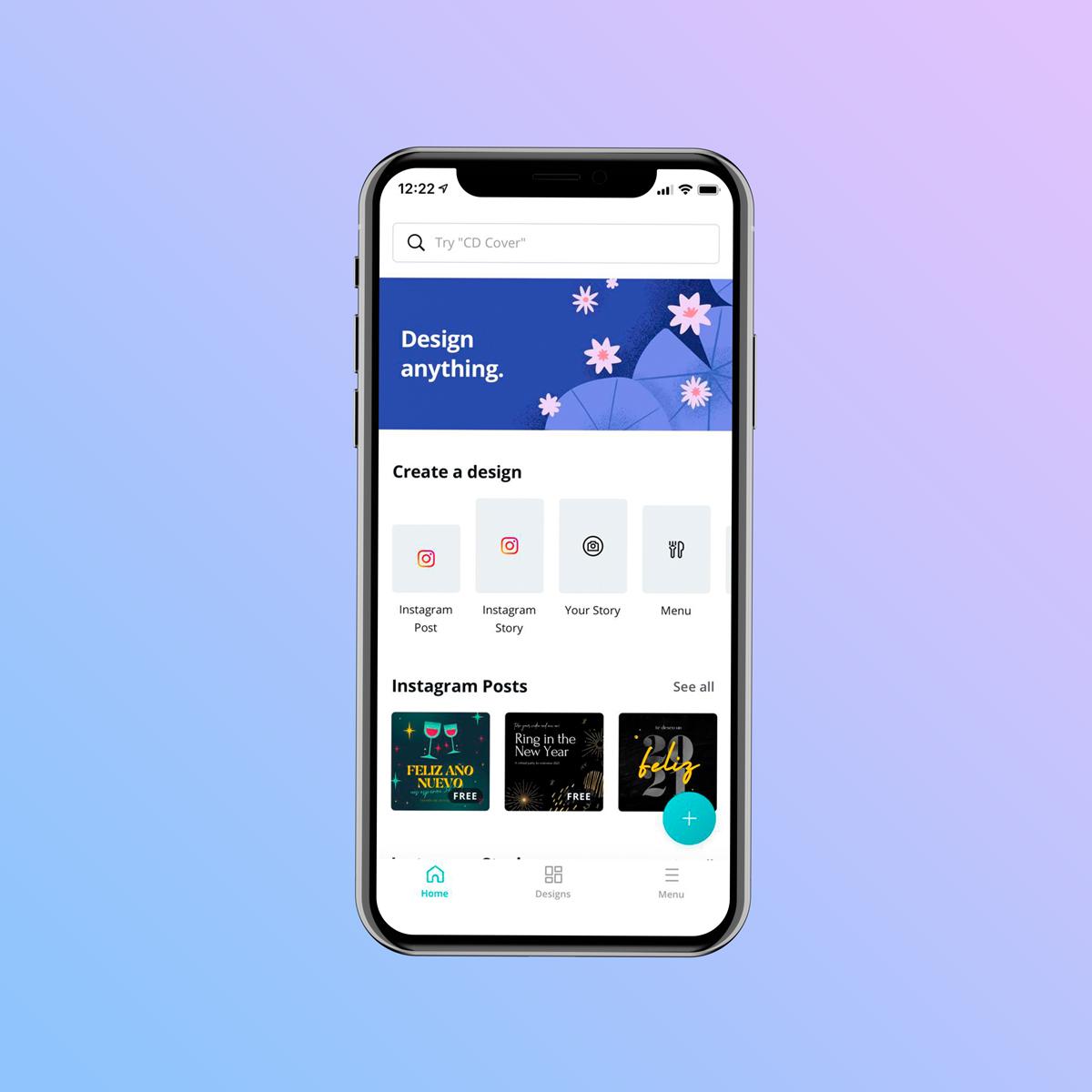 A screenshot of Canva's Mobile App.