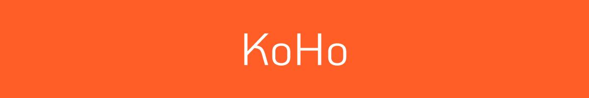 The font KoHo.