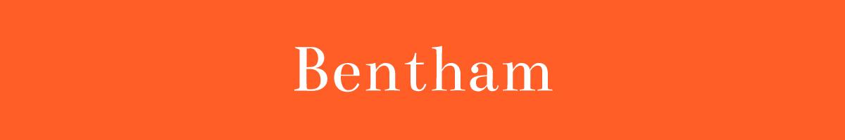 The font Bentham.