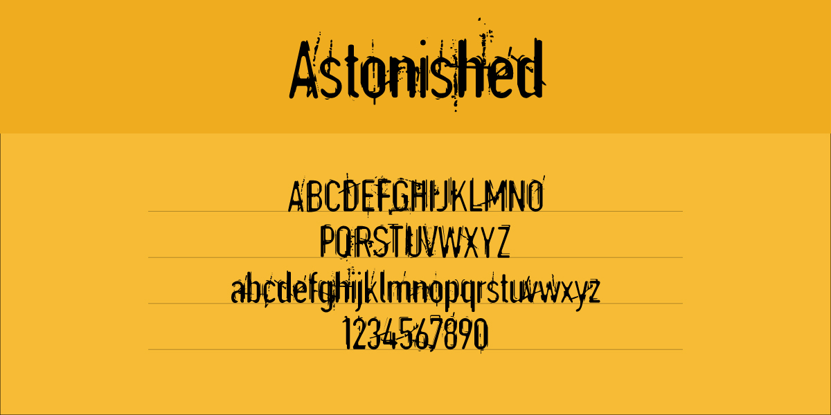 The font Astonished.