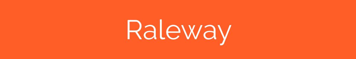 The font Raleway.