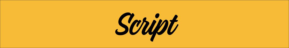 A script font.