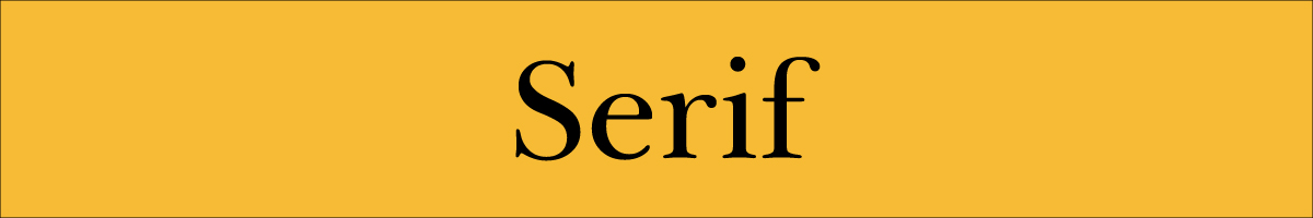 A serif font.