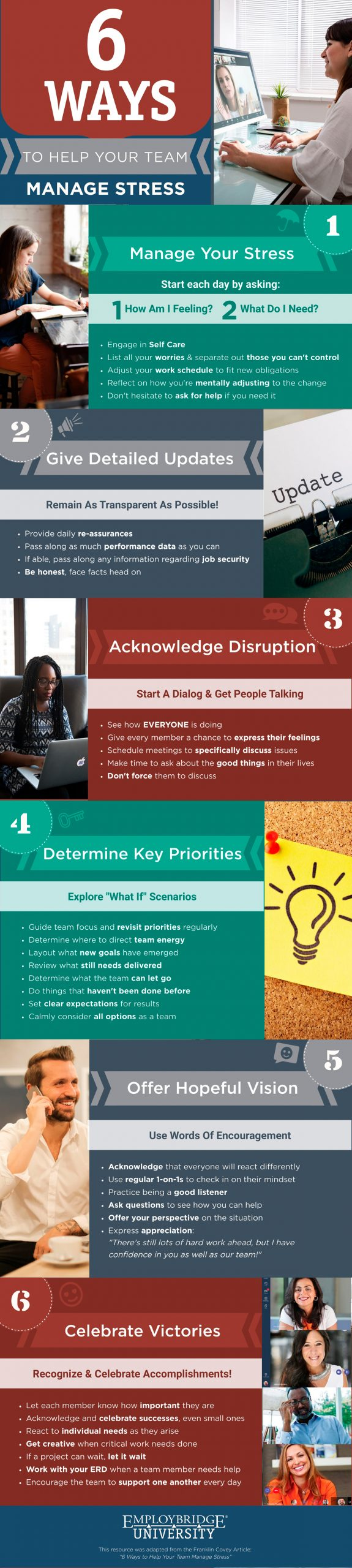 Infographic sharing how to help your team manage stress.