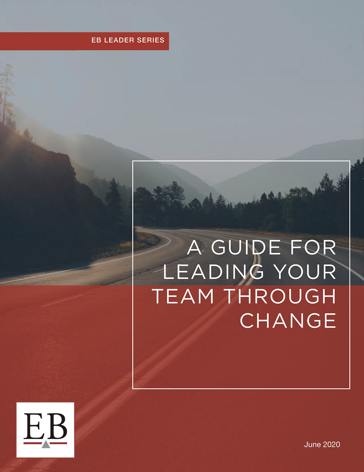 The cover of a training document on leading a team through change.