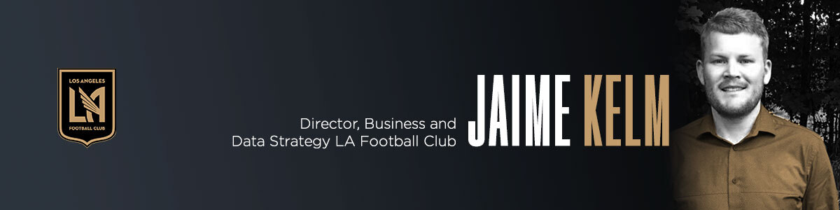 A biocard for Jaime Kelm with LAFC.