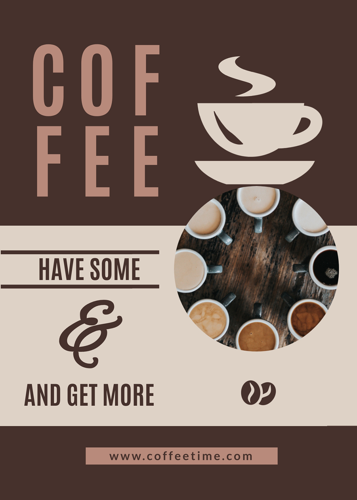A coffee flyer template available in Visme.