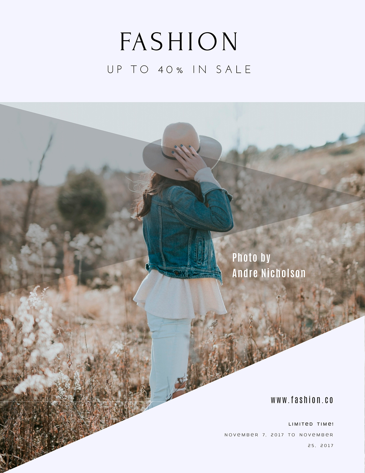 A fashion flyer template available in Visme.