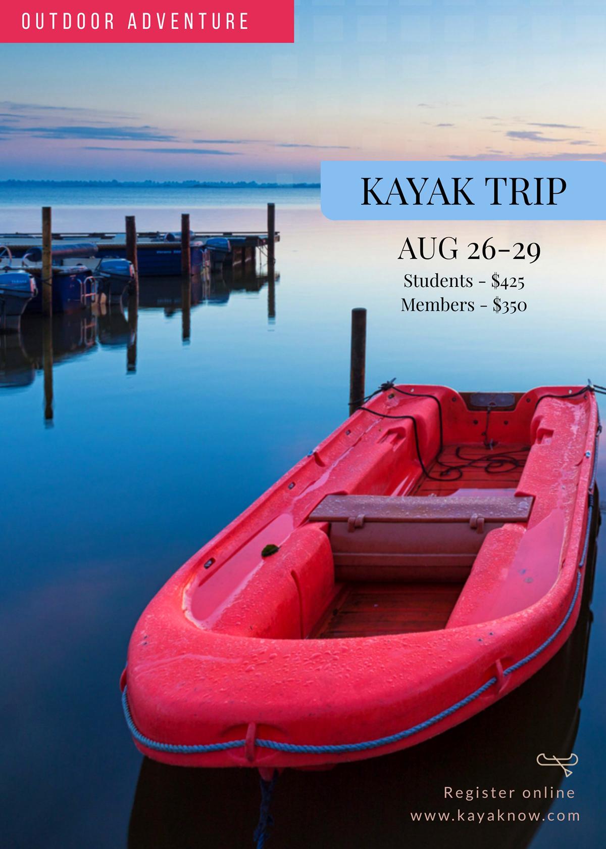 Serene Lake Flyer Background Image