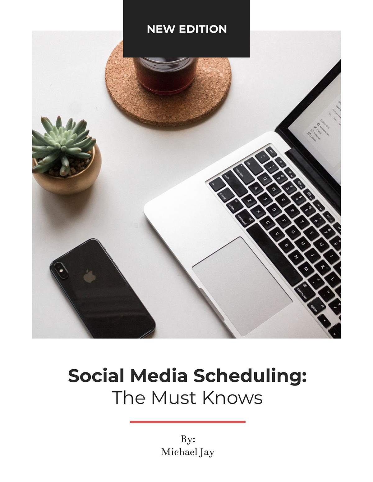 Social media scheduling lead magnet template available in Visme.