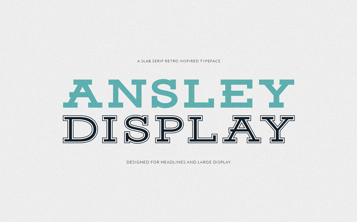 The font Ainsley Display.
